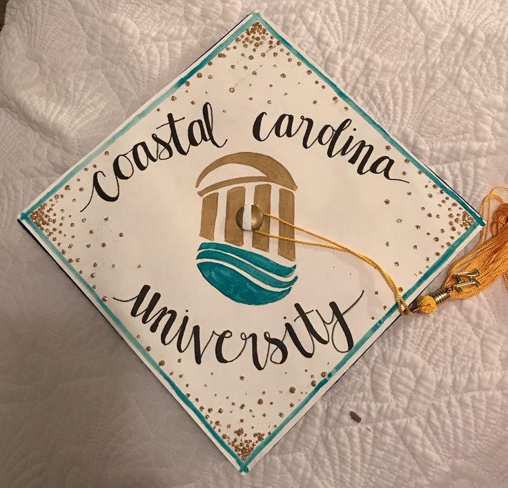 Coastal Carolina university graduation cap