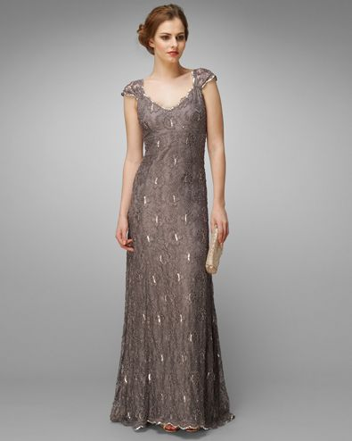 Women's Praline Eve Beaded Lace Maxi Dress