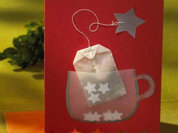 Открытка - приглашение на чай. Так мило!