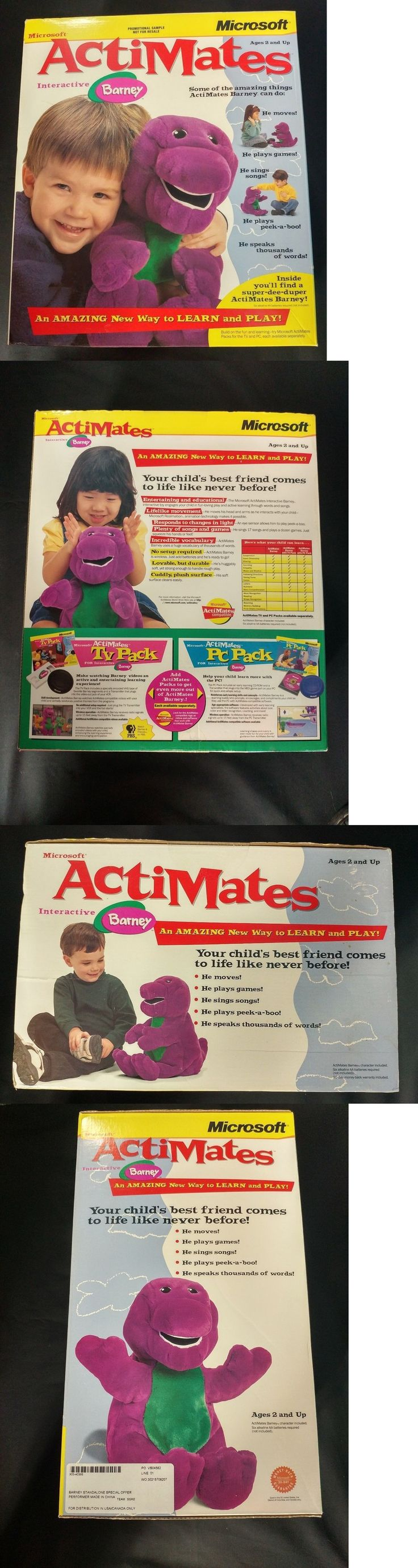 Barney 2625: Microsoft Actimates 1997 Interactive Barney The Dinosaur Learn Play Plush Sealed -> BUY IT NOW ONLY: $150 on eBay!