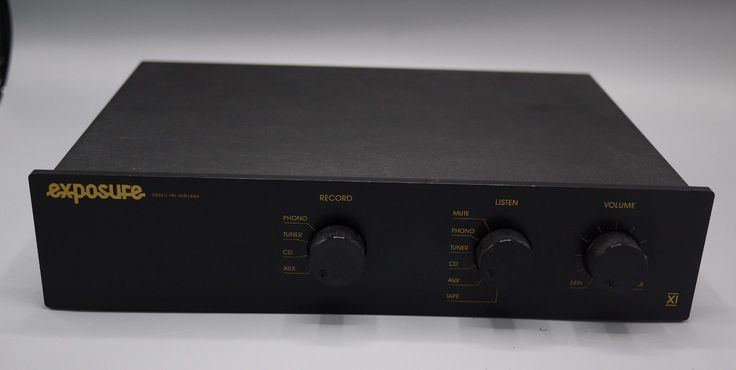 EXPOSURE XI (11) PRE-AMPLIFIER - DUAL MONO -AMAZING SOUND FANTASTIC CONDITION!