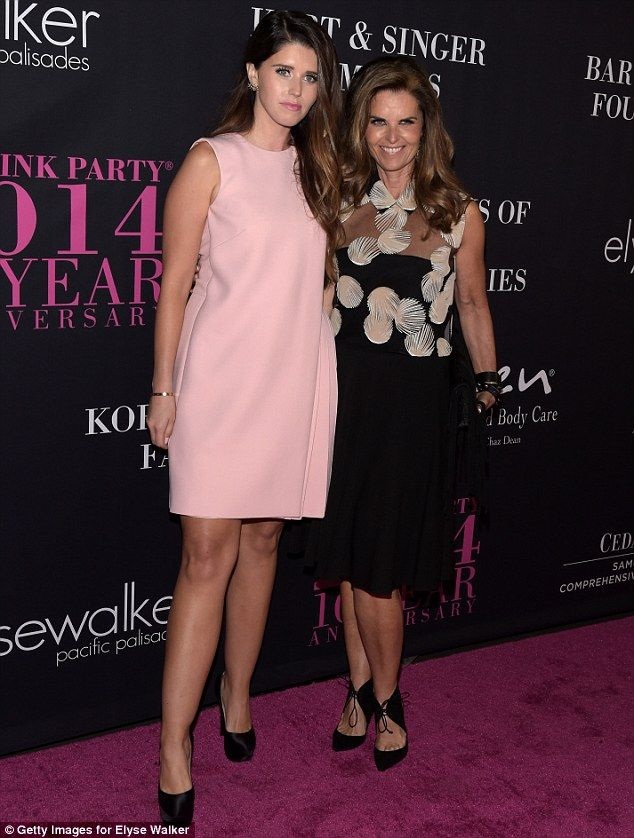 Mother-daughter team: Former First Lady Of California and journalist Maria Shriver attende...