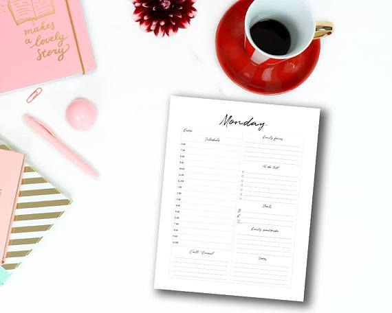 Best 25+ Daily planner printable ideas on Pinterest Free daily - printable day planner