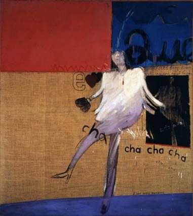 The Cha Cha That Was Danced in the Early Hours of 24th March 1961, 1961  oil on canvas  68 x 60 1/2 in. [172.5 x 153.5 cm.]  Private collection