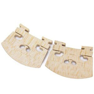 Maple Violin Bridge 4/4 - Worldwide by QLPD. $19.56. Description: This 4/4 Violin Bridge was crafted out of fine quality Maple A great replacement part for any 4/4 size violin ! Fit for most 4/4 size violins Can be easily shaped to fit your strings and violin Material: Maple Width at Top: Approx. 2 inch/51mm Width at Base: Approx. 1.6 inch/42mm Height (Max.): Approx. 1.3 inch/34mm Thickness (Max.): Approx. 0.2 inch/5mm Package Includes: 2 x Violin Bridges