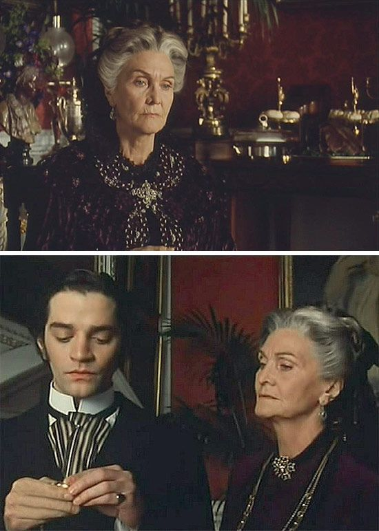 The Buccaneers (1995) Starring:  Sheila Hancock as Blanche, The Dowager Duchess of Tintagel (The Dowager Duchess of Trevennick); and James Frain as Julius Folyat, Duke of Trevennick. Mother lectures son, whose time it is to marry, settle down and produce and heir.