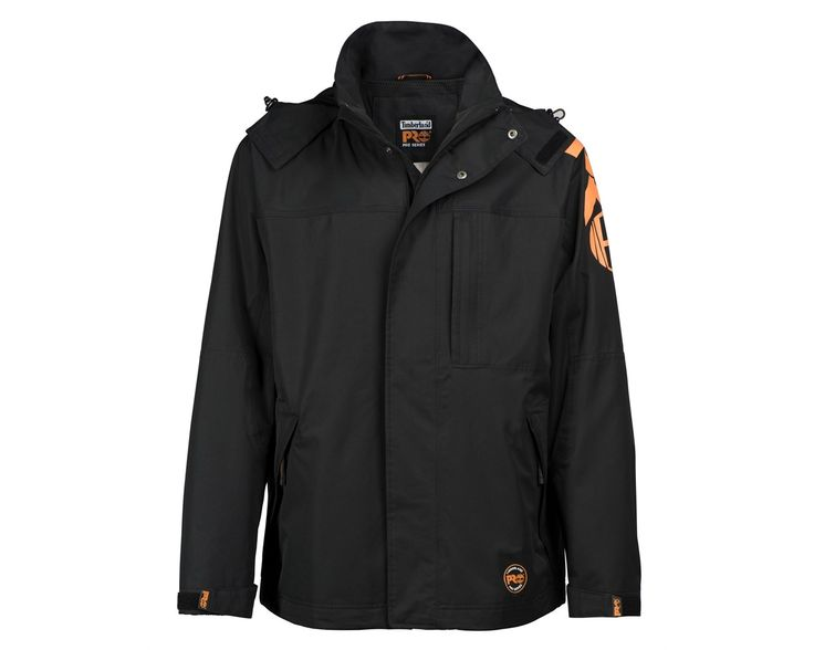 This Timberland PRO 133 Light Rain Jacket is a wind and waterproof garment that offers excellent breathability whilst walking or working. It features Velcro adjustable cuffs, and the front zipper is protected by a stormflap.