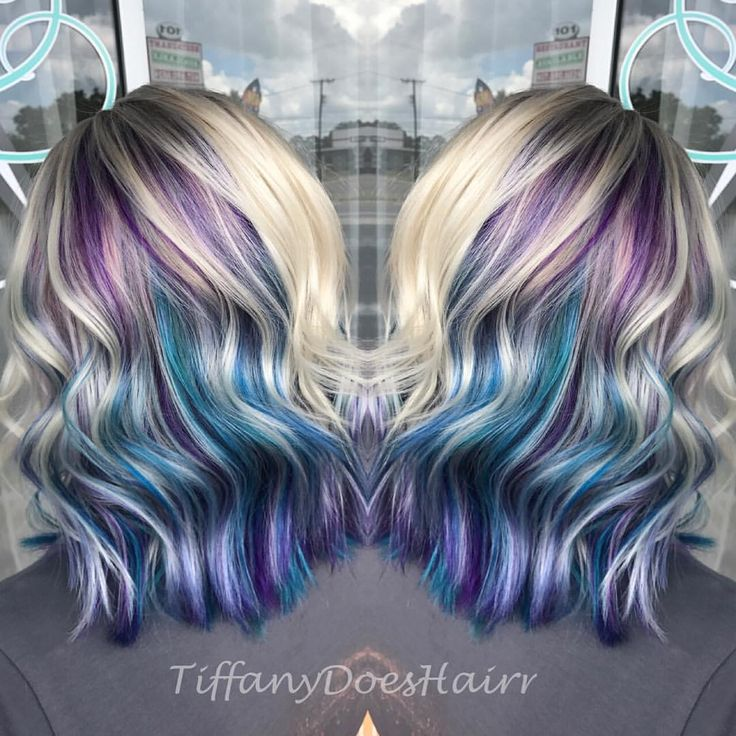 Pin By Tiffany Allen On Stylist In 2019 Purple Blonde