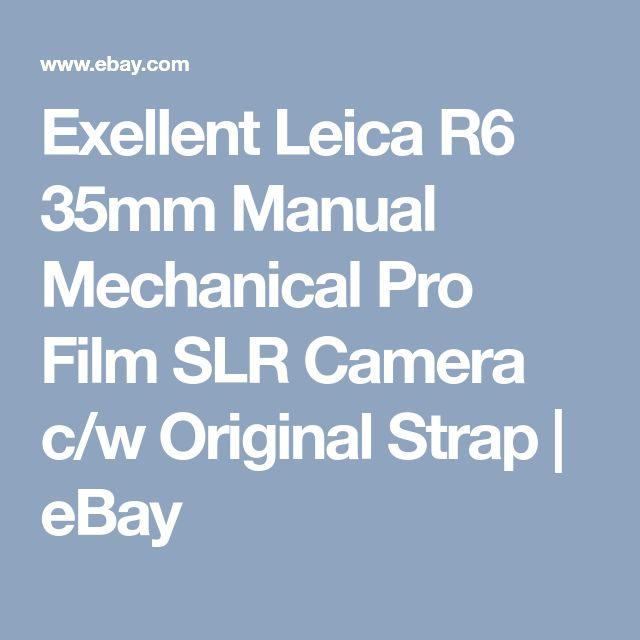 Exellent Leica R6 35mm Manual Mechanical Pro Film SLR Camera c/w Original Strap | eBay