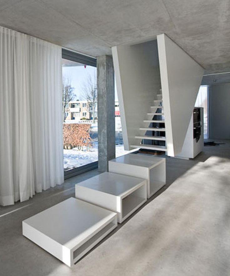 Scala da interni dal design moderno n.18