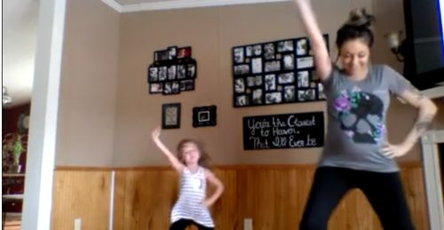 The Stir-6-Year-Old Challenges Very Pregnant Mom to Dance Party & Mom Steps Up Big Time (VIDEO)