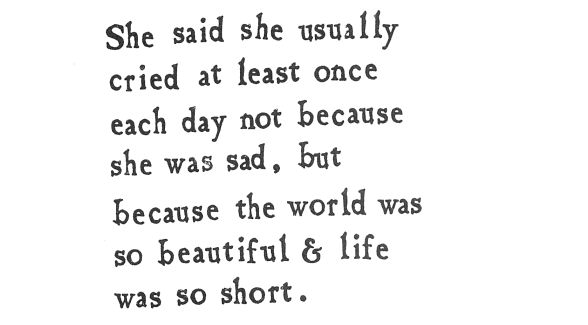 """...because the world was so beautiful and life was so short."" Brian Andreas, Mostly True Collected Stories & Drawings: Brian Andrea, Rose Gardens, Roses Garden, Witty Quotes, Drawing"