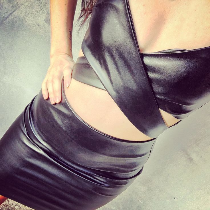 The little black leather dress