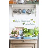 Found it at Wayfair - Euro Sunshine Wall Decals - kitchy but so cute