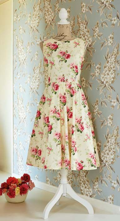 French darted dress - with pattern and instructions