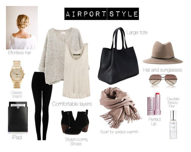 """Airport Style"" by singlecatlady ❤ liked on Polyvore featuring Topshop, Enza Costa, Dolce Vita, Forever 21, Janessa Leone, Linda Farrow, Filippa K, Michael Kors, Fresh and Alexander Wang  YES!!!!"