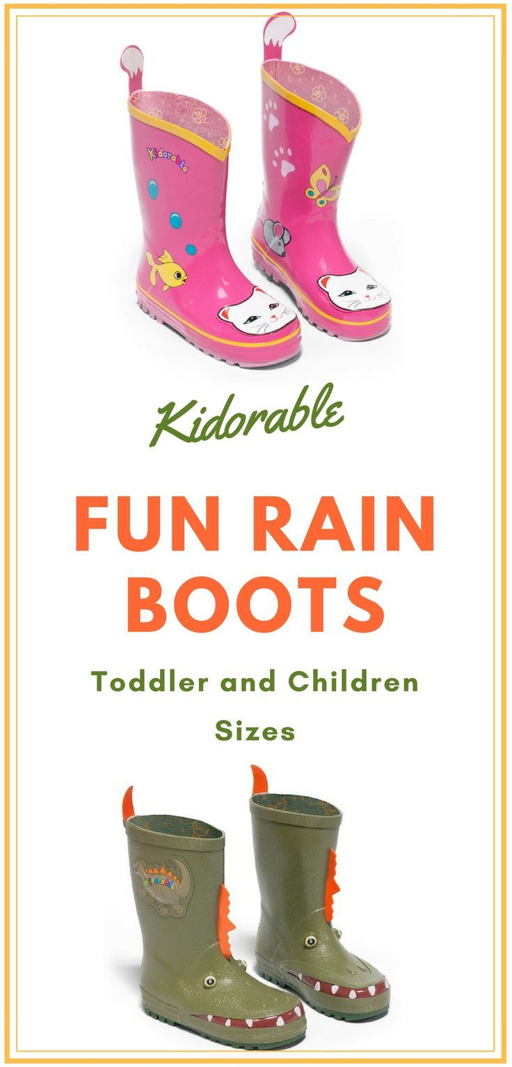 Fun rain boots for kids. Toddler and children's sizes. Many styles to choose from. #ad #childrensfashion #rainboots #kidsclothes