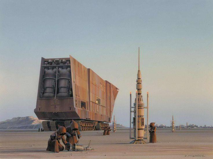 Life in Tatooine. By Ralph McQuarrie. Concept Art. | juansaman