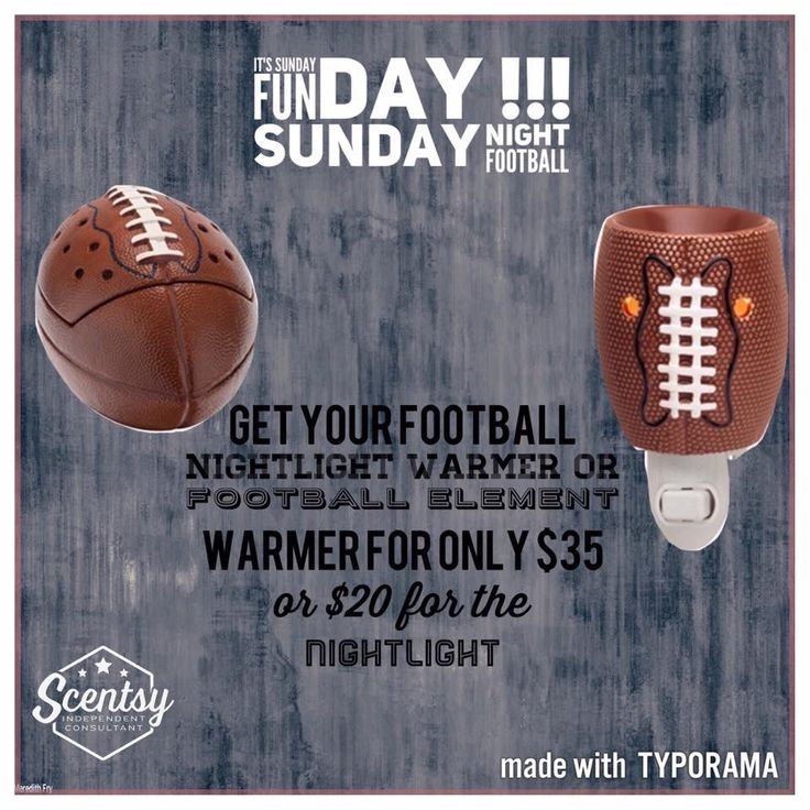 """Scentsy's """"Touchdown"""" full-size and mini wax warmers, perfect for Game Day #scentsbykris"""