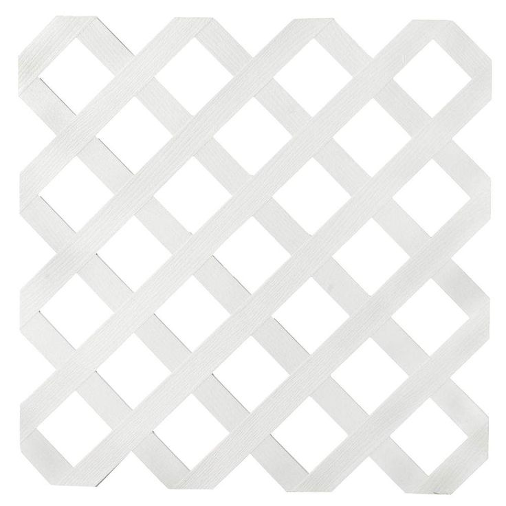 Lqttice White Vinyl Standard (Common: 2 ft. x 8 ft.; Actual: .159 in. x 23.5 in. x 95 in.)-70699 - The Home Depot