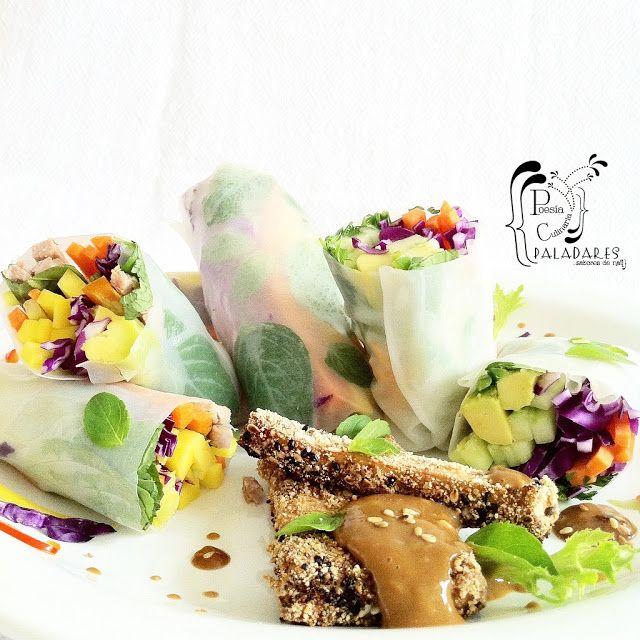 Rollos primavera - Gỏi cuốn con salsa de maní [Vietnam]