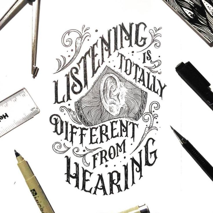 """Typeyeah. (@typeyeah) on Instagram: """"Listen. Beautifully detailed piece by @sitintahitam 'Listening is totally different from hearing'…"""""""