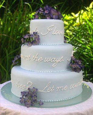 Barrett Browning Wedding Cake How Do I Love Thee Let Me Count The Ways