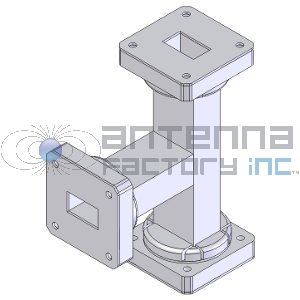 WR-650 ET, 1.12-1.70 GHz 650WET - The Antenna Factory WR-650 Waveguide E-Bend. Custom lengths are available.