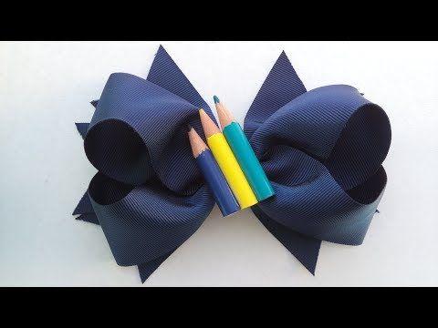 Laço boutique com spikes volta às aulas - YouTube