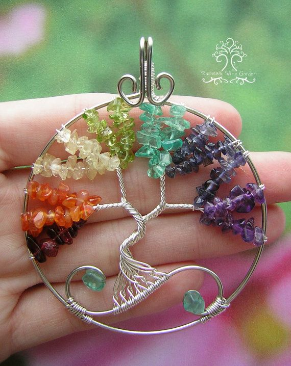 MADE TO ORDER: Chakra Balancing Tree of Life by RachaelsWireGarden