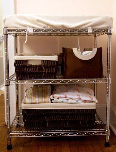 I have survived fine in our 1 bedroom apartment without a changing table, but this is an awesome idea!