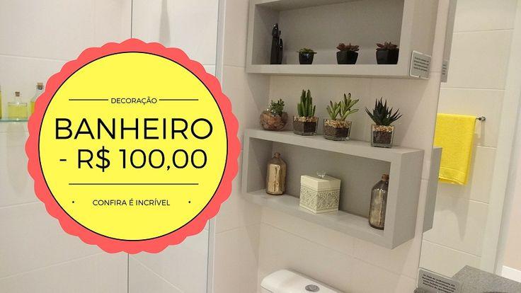 Quer decorar seu banheiro com menos de 100 reais, confira aqui as dicas e ideias de decoração de banheiro barato pequeno,simples mais moderno.