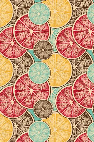 """Morning Fruit"" by Cameo. To have a colourlovers pattern printed on fabric, go to www.colourlovers...."