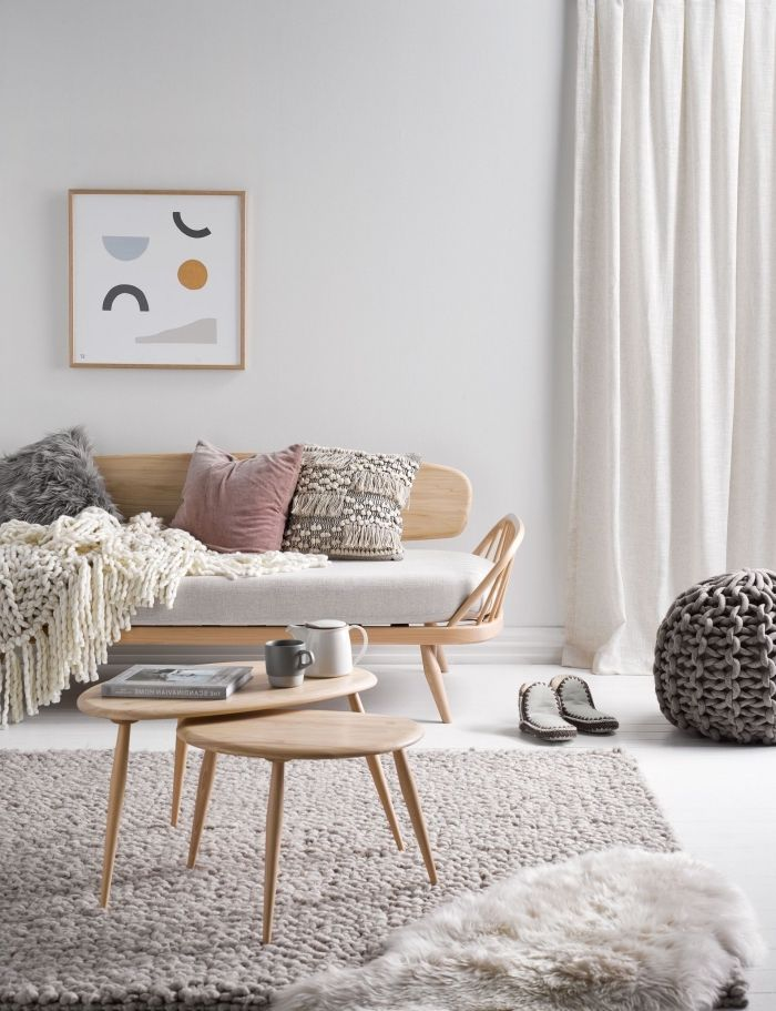 1001 id es d co salon cocooning de style hygge lak s. Black Bedroom Furniture Sets. Home Design Ideas