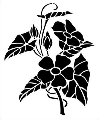 Black-Eyed Susan stencil from The Stencil Library GARDEN ROOM range. Buy stencils online. Stencil code GR8.