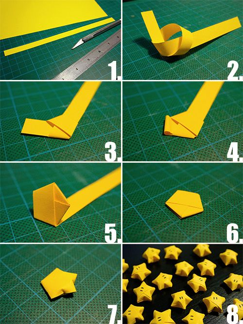 Simple tutorial on how to make orgami Nintendo stars! It really brings back the…