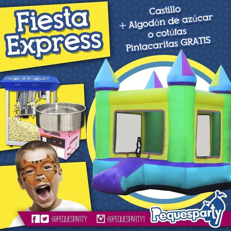 Necesitas una solución #economica para tu #fiesta? No busques más? Pregunta por nuestro servicio de #fiestaexpress disponible de #lunes a #jueves durante 3 horas. Un castillo #inflable de 3x3 mts  la máquina de#algodon de azucar o de #cotufas (30 unidades) y las #pintacaritas te salen gratis.  PequesParty Fábrica de Sonrisas!  #fiestas #animacion #eventos #maracaibo #vzla #Occidente #cumple #yeah #castillos #Snacks #Party #activaciones #cool #mcbo #niños #kids #tobogan #animacion #261…