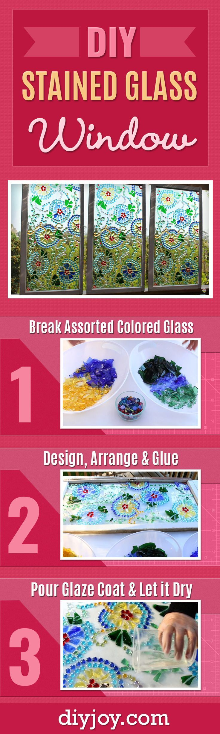 Mark Montano, with Make Your Mark, shows us a brilliant way to create a stained glass window that is much easier than the traditional method using lead in between. I was amazed at how Mark creates this stained glass look on an old window he picked up at a flea market! This is definitely a project