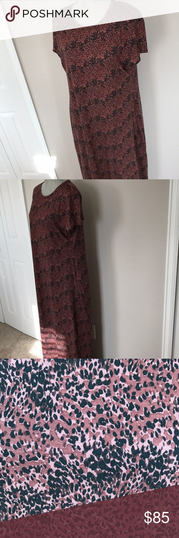 Animal print maxi⏰Flash Sale🚨 Mauve pink mixed toned animal print maxi dress. Lularoe Maria style new without tags. Too big. See pictures for size and color reference. Price is firm LuLaRoe Dresses Maxi