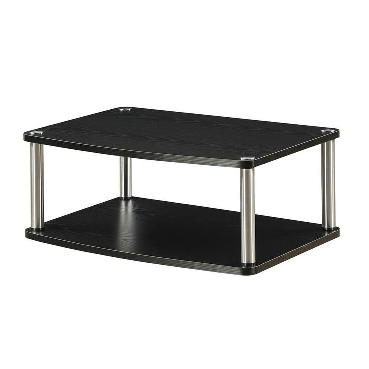 Designs-2-Go 2-Tier TV and Monitor Swivel Stand, Black