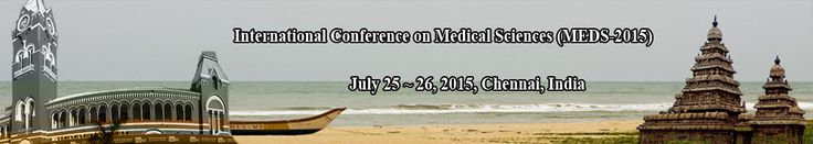 International Conference on Medical Sciences (MEDS-2015) will provide an excellent international forum for sharing knowledge and results in theory, methodology and applications impacts and challenges of Medical Sciences. http://iidco.org/2015/meds/index.html