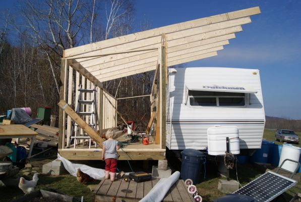 1000 images about rv deck and cover ideas on pinterest for Rv with roof deck