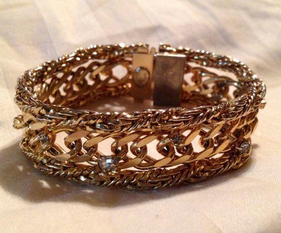 Vintage Hattie Carnegie Bracelet    Signed