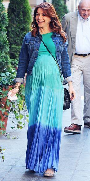 Alyson Hannigan's Haute-to-Hip Pregnancy Style - I love the colors!