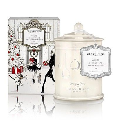 Limited Edition White Christmas 350g Candle by Glasshouse Fragrances