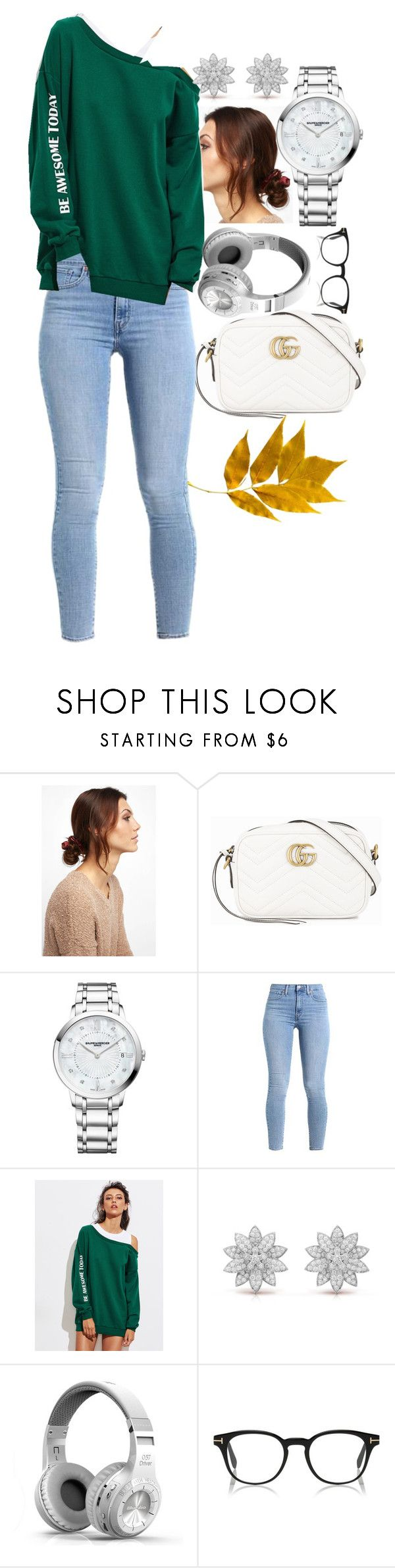 """""""Vanderwood"""" by cchryssa ❤ liked on Polyvore featuring NOVA, Gucci and Baume & Mercier"""