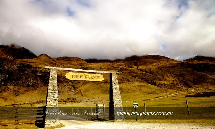 Treble Cone Entrance, New Zealand