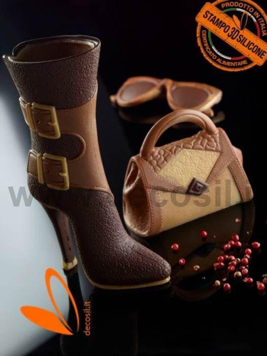Hautes Bottes avec boucles moule - silicone moule à chaussure -