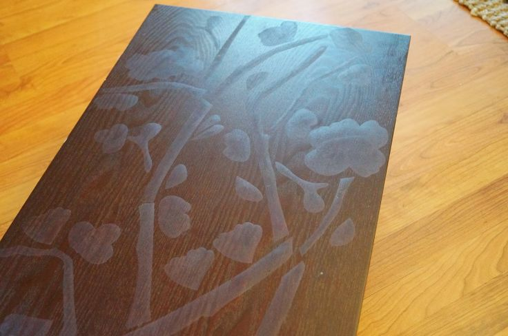 Don't Disturb This Groove: Stenciled-Table Top