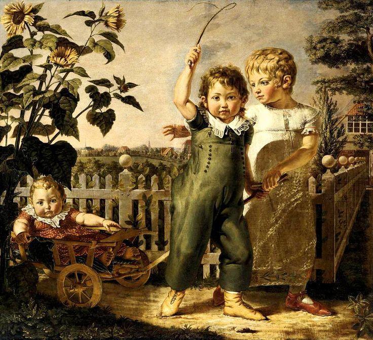 Филипп Отто Рунге. Портрет детей Хюльзенбек. Гамбург, Кунстхалле